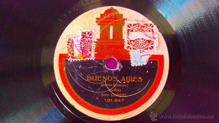 Discos de vinilo: DISCOS ODEON, CARLOS GARDEL, BUENOS AIRES, LOS INDIOS (SOLO) - Foto 2 - 45592796
