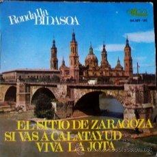 Discos de vinilo: RONDALLA BIDASOA - EL SITIO DE ZARAGOZA / SI VAS A CALATAYUD / VIVA LA JOTA - (EP EKIPO 1967) -. Lote 45600736