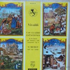 Discos de vinilo: VIVALDI, LAS CUATRO ESTACIONES. I MUSICI. FELIX AYO. LP PORTADA ABIERTA + LIBRETO. Lote 45601509