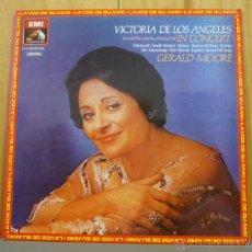 Discos de vinilo: VICTORIA DE LOS ANGELES / GERALD MOORE - RECITAL EN EL ROYAL FESTIVAL HALL - LP EMI - 1979. Lote 45606011