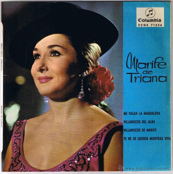 M - MARIFE DE TRIANA - TE HE DE QUERER MIENTRAS VIVA - FOTO ADICIONAL (Música - Discos - Singles Vinilo - Flamenco, Canción española y Cuplé)