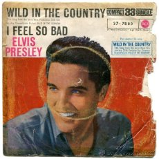 Discos de vinilo: ELVIS PRESLEY - WILD IN THE COUNTRY - SG SPAIN 1961 - RCA 37-7880. Lote 45638658