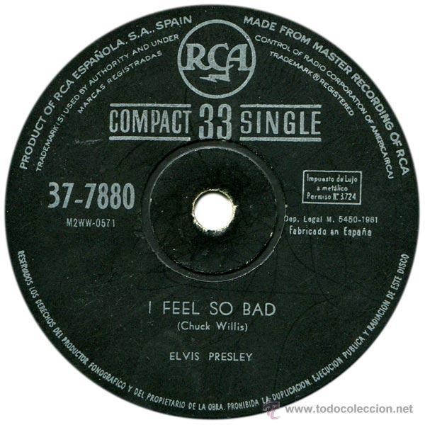 Discos de vinilo: ELVIS PRESLEY - WILD IN THE COUNTRY - SG SPAIN 1961 - RCA 37-7880 - Foto 4 - 45638658