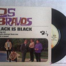 Discos de vinilo: 7 EP-LOS BRAVOS-BLACK IS BLACK-CUTTING OUT..FRANCE. Lote 45641019