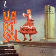 Disques de vinyle: MARISOL, EP, YO SOY UN HOMBRE DEL CAMPO + 3, 1961. Lote 45643028