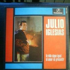 Discos de vinilo: JULIO IGLESIAS LA VIDA SIGUE IGUAL. Lote 45644782