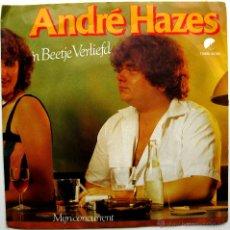 Discos de vinilo: ANDRÉ HAZES - 'N BEETJE VERLIEFD - SINGLE EMI 1981 HOLANDA BPY. Lote 45645379