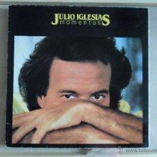 Discos de vinilo: JULIO IGLESIAS - MOMENTOS - LP AÑO 1982 - GATEFOLD. Lote 45645411