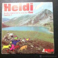 Discos de vinilo: SINGLE HEIDI - CAPÍTULO 4 - BANDA SONORA ORIGINAL DE LA SERIE DE RTVE - RCA 1975.. Lote 45645629