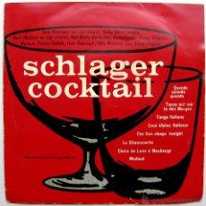Discos de vinilo: VARIOS - SCHLAGER-COCKTAIL - EP POPULAIRE PLATEN KRING 1962 BELGIUM BPY. Lote 45646248