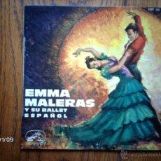 Discos de vinilo: EMMA MALERAS Y SU BALLET ESPAÑOL - MUSICA Y CASTAÑUELAS DE ESPAÑA - ZARAGOZANA + 3 - FRANCES. Lote 45648958