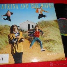 Discos de vinilo: KATRINA AND THE WAVES WAVES LP 1986 CAPITOL PROMO EDICION ESPAÑOLA SPAIN. Lote 45650469