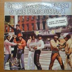 Discos de vinilo: DISCO GRANDE VINILO RARO - GRAND MASTER FLASH TH FURIOUS FIVE CONTIENE MESSAGE - ZAFIRO ESPAÑA. Lote 45652270
