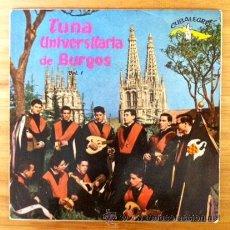 Discos de vinilo: TUNA UNIVERSITARIA DE BURGOS - 1963. Lote 45655100