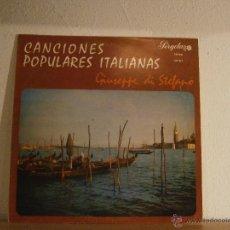 Discos de vinilo: GIUSEPPE DI STEFANO. CANCIONES POPULARES ITALIANAS.. Lote 45657721