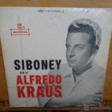 Discos de vinilo: DISCO GRANDE VINILO RARO - SIBONEY BY ALFREDO KRAUS MONTILLA FABRICADO EN COLOMBIA. Lote 45662177
