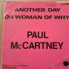 Discos de vinilo: PAUL MC CARTNEY-ANOTHER DAY-OH WOMAN OH WHY-SG-1971. Lote 45662890