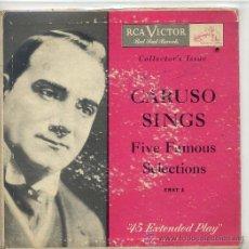 Discos de vinilo: CARUSO SINGS (EP USA). Lote 45670903