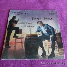 Discos de vinilo: MANOLO CARACOL- JUERGA GITANA - 1960. Lote 45672387