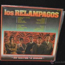 Discos de vinilo: LOS RELAMPAGOS - 20 EXITOS - LP. Lote 143386101