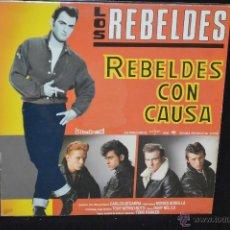 Discos de vinilo: LOS REBELDES - REBELDES CON CAUSA - LP. Lote 133199242