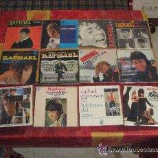 Discos de vinilo: LOTE ( 72 DISCOS ) 49 SINGLE +23 EP 45 RPM / RAPHAEL // EDITADOS EN ESPAÑA. Lote 45689388