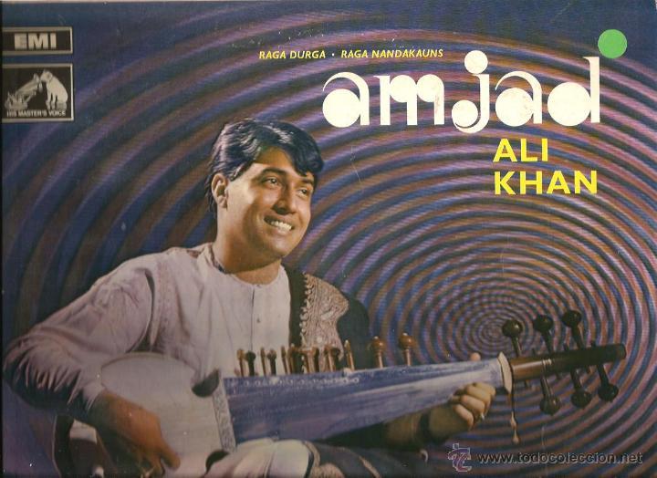 LP AMJAD ALI KHAN : RAGA DURGA & RAGA NANDAKAUNS (Música - Discos - LP Vinilo - Étnicas y Músicas del Mundo)