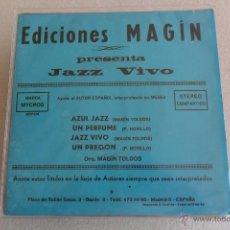 Discos de vinilo: JAZZ VIVO - AZUL JAZZ + 3 EP EDICIONES MAGIN 1976. Lote 45691106