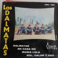 Discos de vinilo: LOS DALMATAS - DALMATAS + 3 EP 1966. Lote 45691154