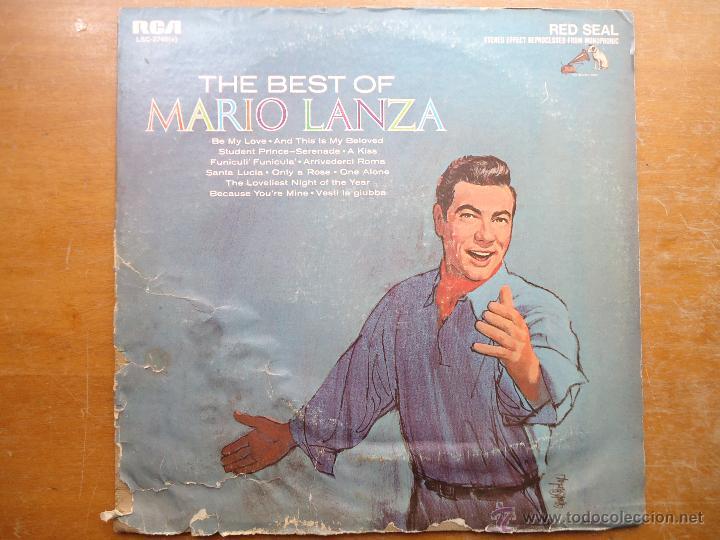 DISCO GRANDE VINILO RARO - THE BEST OF MARIO LANZA , RCA RED SEAL , PRINTED USA (Música - Discos - Singles Vinilo - Otros estilos)
