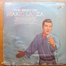 Discos de vinilo: DISCO GRANDE VINILO RARO - THE BEST OF MARIO LANZA , RCA RED SEAL , PRINTED USA. Lote 45694530
