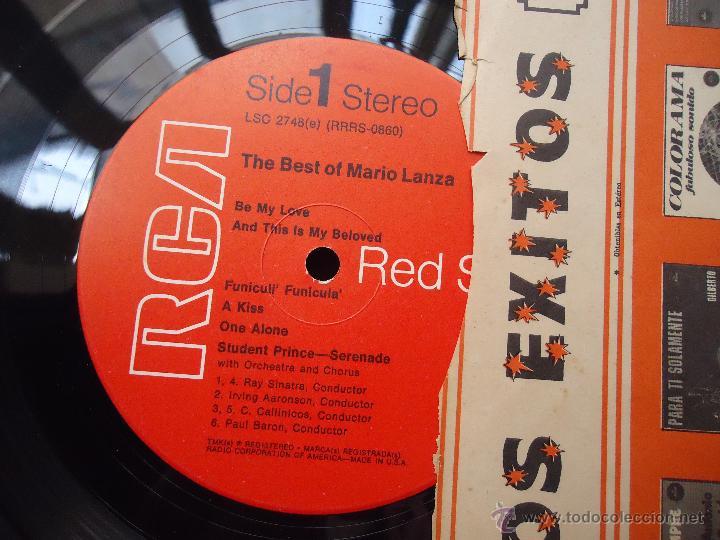 Discos de vinilo: DISCO GRANDE VINILO RARO - the best of mario lanza , rca red seal , printed usa - Foto 2 - 45694530