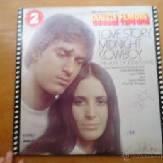 Discos de vinilo: DISCO GRANDE VINILO RARO - DOS DISCOS - LOVE STORY MIDNIGHT COWBOY , MADE IN USA. Lote 45694586