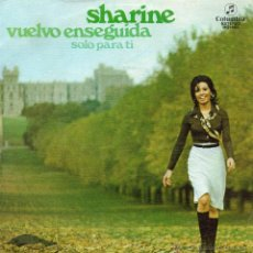 Discos de vinilo: SHARINE, SG, VUELVO ENSEGUIDA + 1, 1975. Lote 45701088