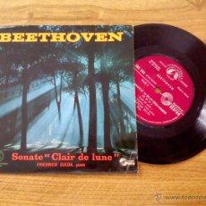 Discos de vinilo: BEETHOVEN. SONATE CLAIR DE LUNE. PIANO. FRIEDRICH GULDA.. EDICION FRANCESA. Lote 45712223