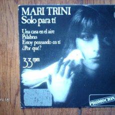 Discos de vinilo: MARI TRINI - UNA CASA EN EL AIRE + 3 - PROMOCIONAL. Lote 45713008