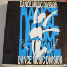 Discos de vinilo: MAXI LP. DANCE MUSIC DIVISION. IMPORTANTE. LUCAS RECORDS. VALENCIA. Lote 45720426