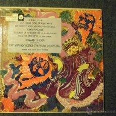 Discos de vinilo: GRIFFES, LOEFFLER. HOWARD HANSON. EASTMAN-ROCHESTER SYMPHONY ORCHESTRA. Lote 45721525