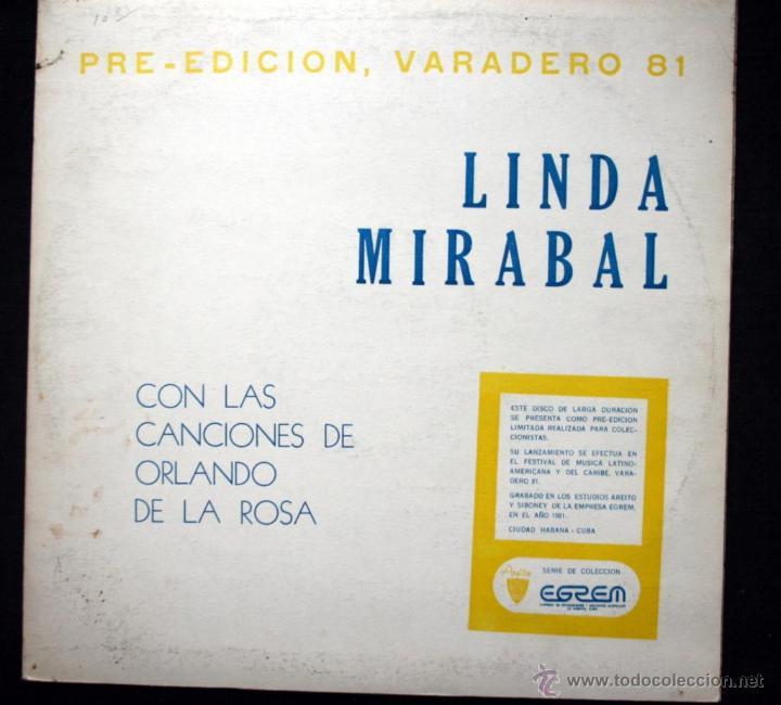 LINDA MIRABAL - VARADERO 81 - PRE - EDICION LIMITADA - ORLANDO DE LA ROSA - CUBA - BOLEROS - MAMBO (Música - Discos - Singles Vinilo - Otros estilos)