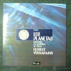 Discos de vinilo: HOLST LOS PLANETAS. ORQUESTA FILARMÓNICA DE VIENA. HERBERT VON KARAJAN. DECCA,SPAIN 1977. Lote 45730290