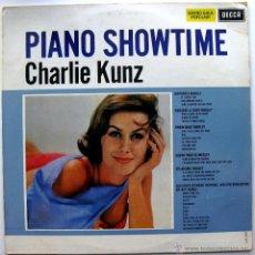 Discos de vinilo: CHARLIE KUNZ - PIANO SHOWTIME - LP DECCA 196? HOLANDA BPY. Lote 45738722
