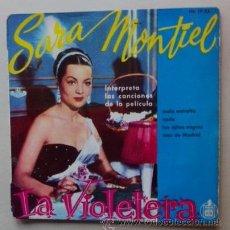 Discos de vinilo: SARA MONTIEL - LA VIOLETERA. Lote 45739151