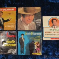 Discos de vinilo: LOTE 5 SINGLES VINILO JUANITO VALDERRAMA. Lote 45740588