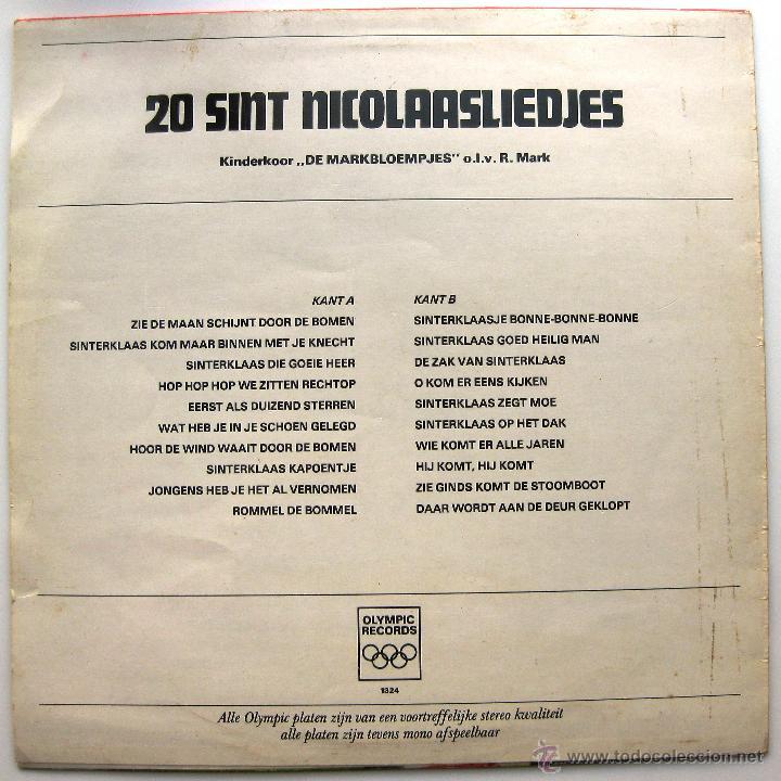 Discos de vinilo: Kinderkoor De Markbloempjes - 20 Sint Nicolaasliedjes - LP Olympic Records Holanda BPY - Foto 2 - 45746056