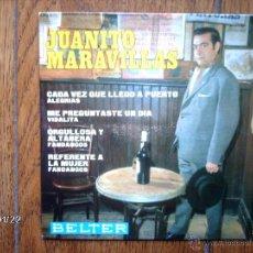 Discos de vinilo: JUANITO MARAVILLAS - ME PREGUNTASTE UN DÍA + 3. Lote 45748419
