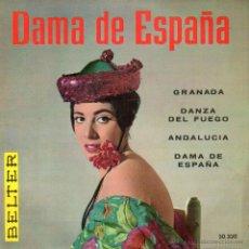 Discos de vinilo: ORQUESTA SINFONICA DEL AIRE - PALILLOS: EMMA MALERAS Y SU CONJUNTO, EP, DAMA DE ESPAÑA + 3, 1960. Lote 45752583