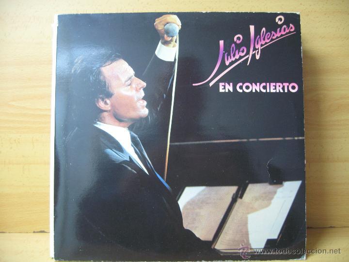JULIO IGLESIAS EN CONCIERTO DOBLE LP. (Música - Discos - LP Vinilo - Solistas Españoles de los 70 a la actualidad)