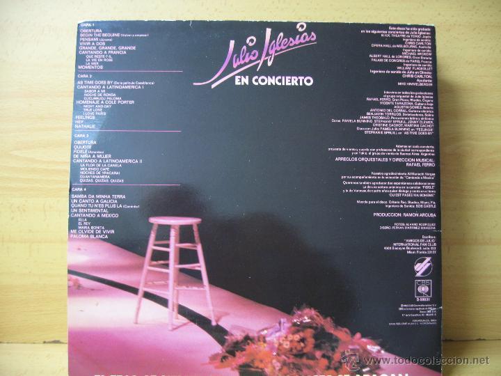 Discos de vinilo: Julio Iglesias en concierto doble LP. - Foto 3 - 45763830