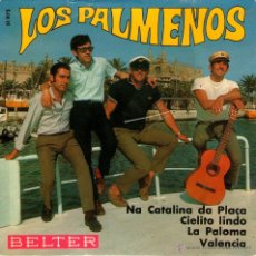 """Discos de vinilo: LOS PALMEÑOS - EP SINGLE VINILO 7"""" - EDITADO EN ESPAÑA - LA PALOMA + 3 - BELTER 1969.. Lote 45770756"""