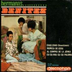 Discos de vinilo: HERMANAS BENÍTEZ - EP SINGLE VINILO 7'' - MUÑECA DE CERA (GEINSBOURG COVER) + 3 - DISCOPHON 1965. Lote 45771693